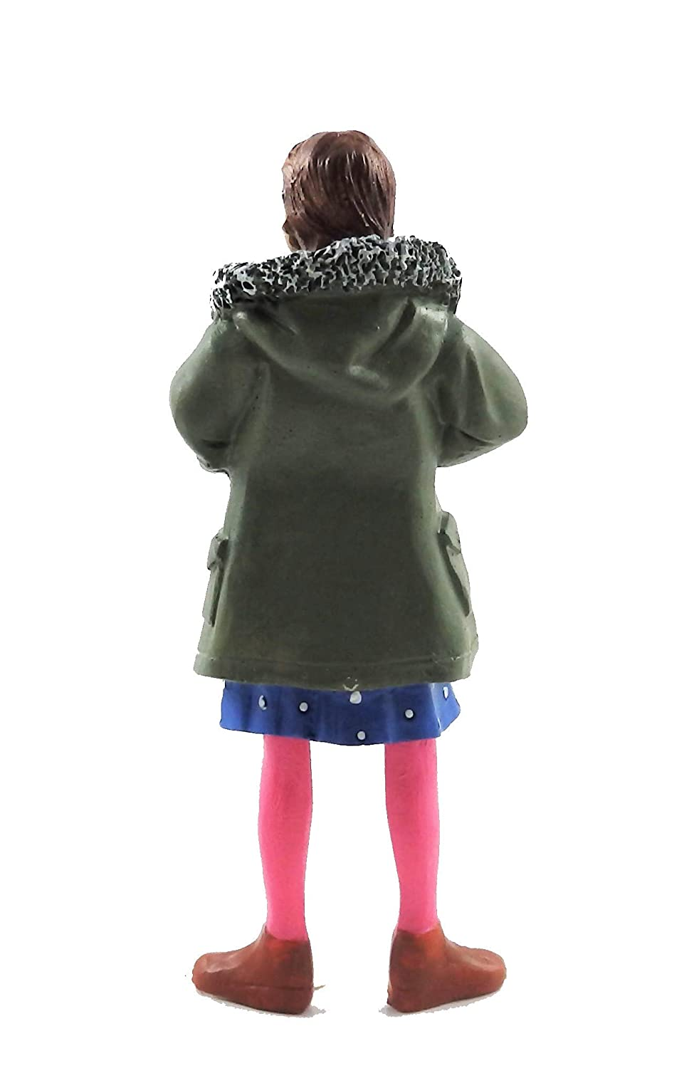 Melody Jane Dolls House People Modern Girl in Parka 1:12 Scale Resin Figure