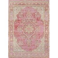 Momeni Rugs ISABEISA-1PNK2030 Isabella Traditional Medallion Flat Weave Area Rug, 20 x 30, Pink