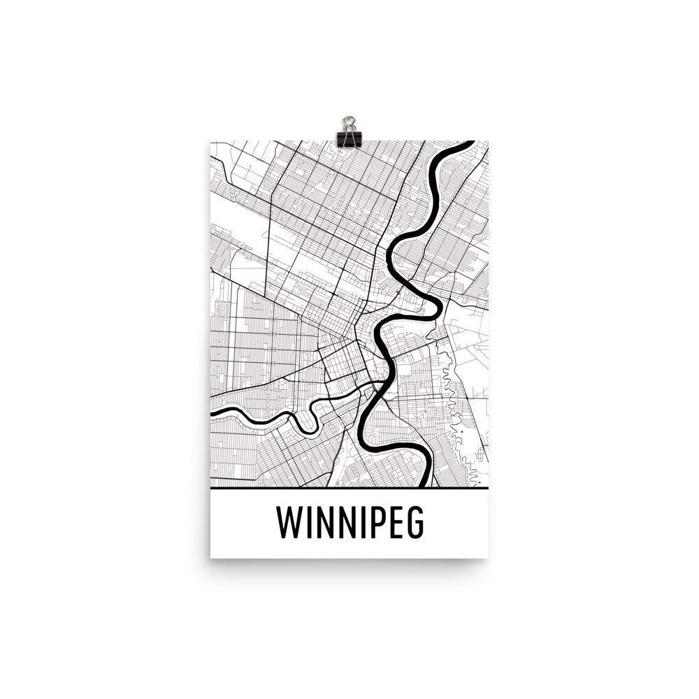 Amazon Com Winnipeg Print Winnipeg Art Winnipeg Map