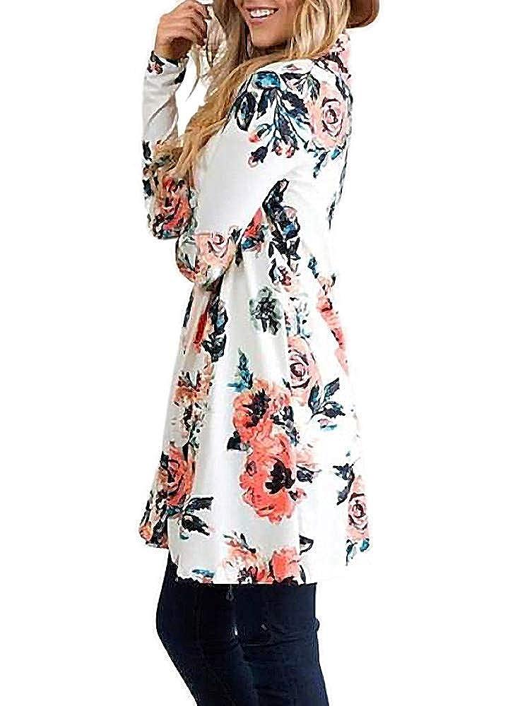 WFTBDREAM Lightweight Kimono Cardigans for Women Floral Print Over Shirt Outer