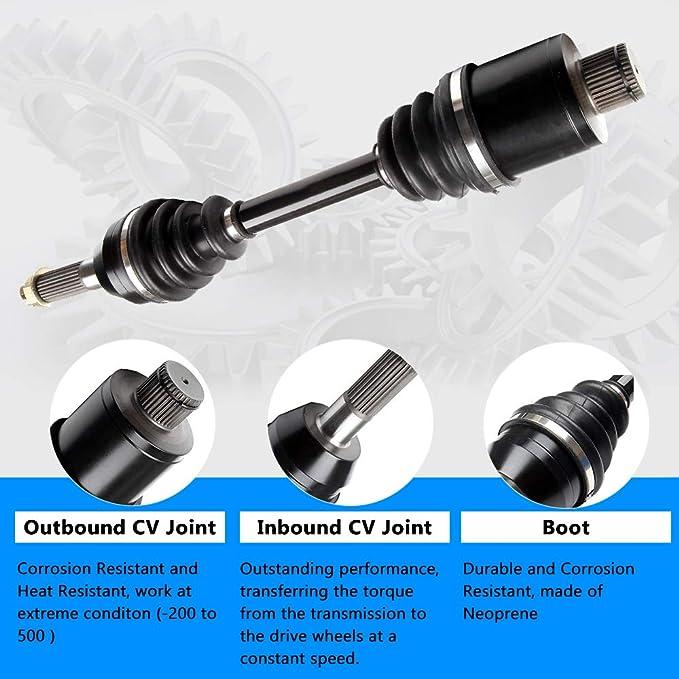 INEEDUP ATV-PO-8-354 Rear Left Right CV Axle Shaft Assembly Compatible for Polaris Sportsman 450 500 700 800 2006-2010