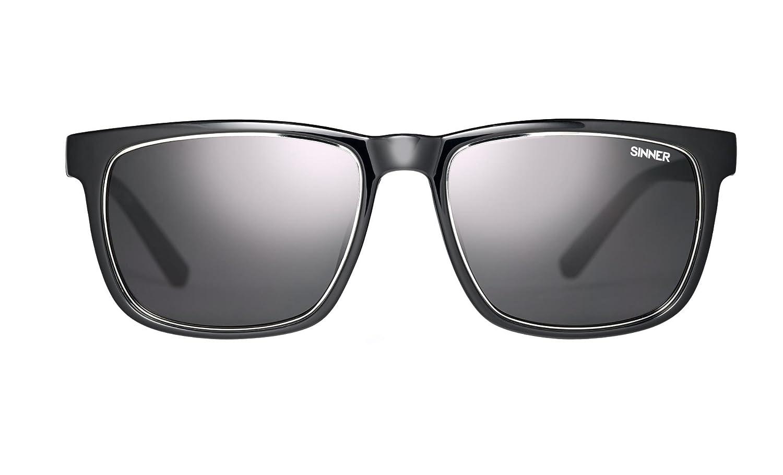 Sinner Canaan Quadrat Erwachsene Sonnenbrille in scheinend schwarz / Sintec polarisiert Rauchglas mtTAtSltT