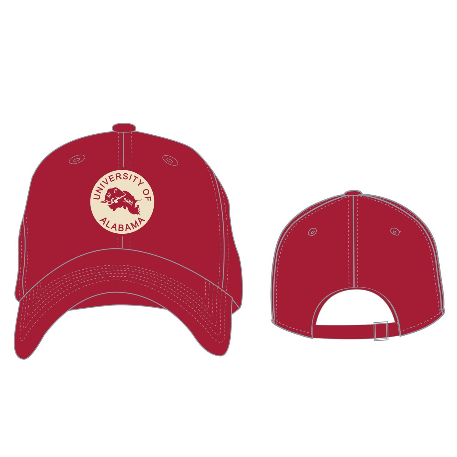 hot sale online 6efe9 4a124 Top of the World Vintage Crew Alabama Crimson Tide Adjustable Vault Team  Colored Hat  Amazon.in  Sports, Fitness   Outdoors