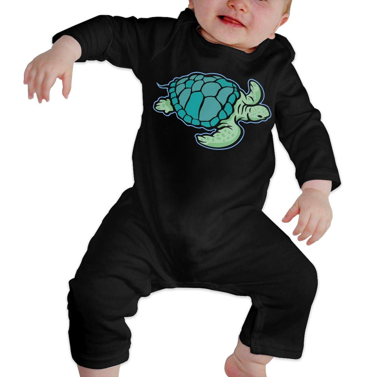 Hawaiian Sea Turtle Toddler Baby Long Sleeve Romper Jumpsuit Jumpsuit