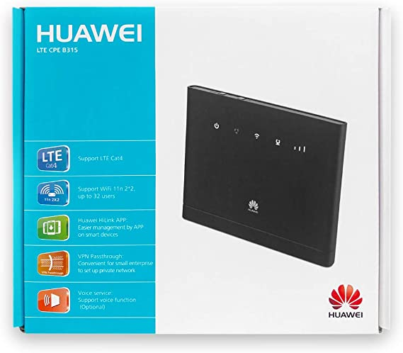 HUAWEI Router B315S22 4G WiFi 150MBPS Negro