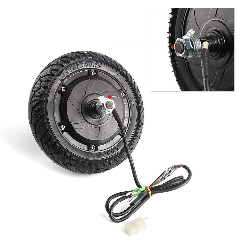 aikeec 8'' Wheel Electric Scooter Hub Wheel Motor 24V 36V 48V DC Brushless Toothless