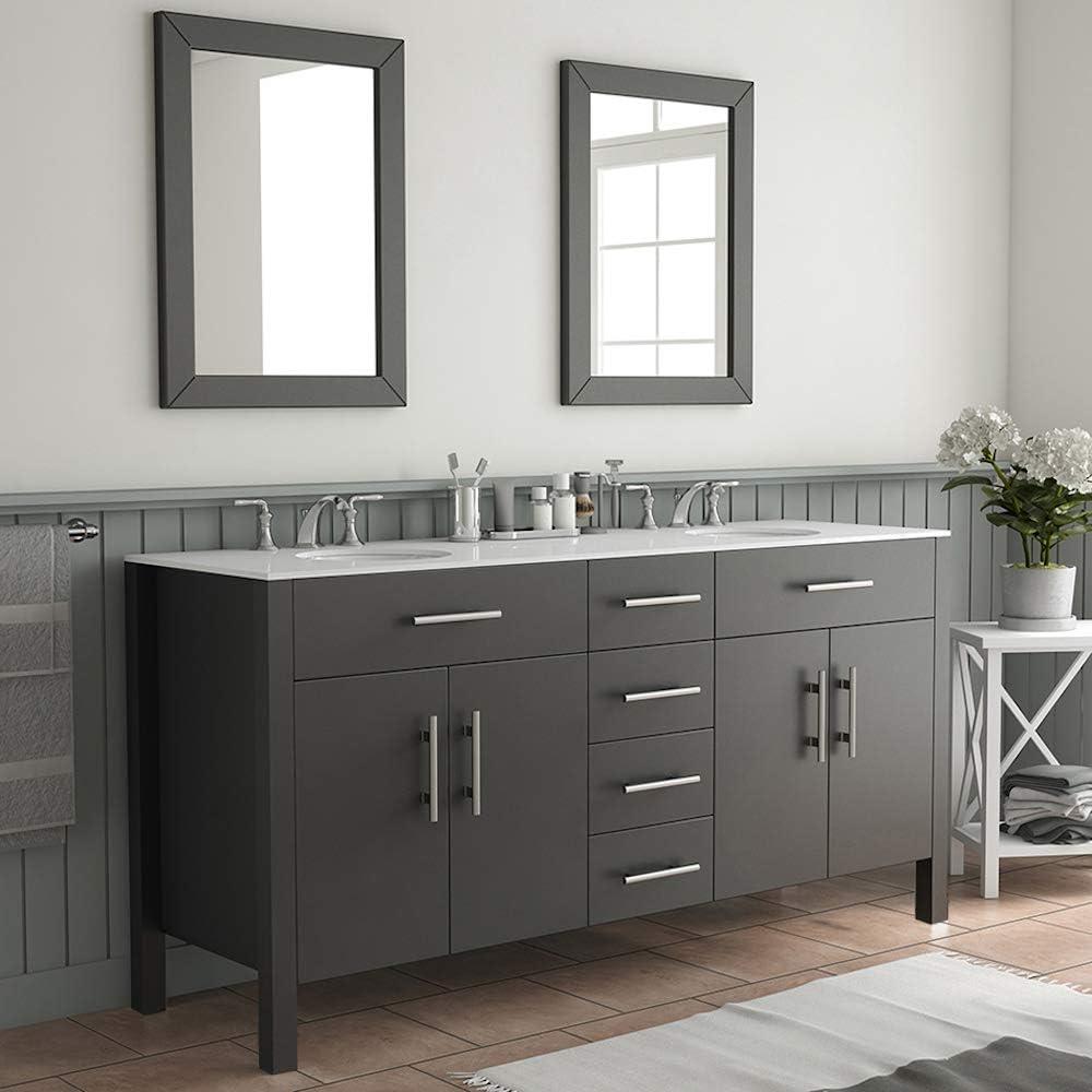 Amazon Com 72 Inch Espresso Double Basin Sink Bathroom Vanity Set