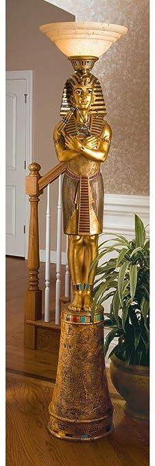 74.5u0026quot; Classic Egyptian Statue King Tut Decorative Sculpture Floor Lamp
