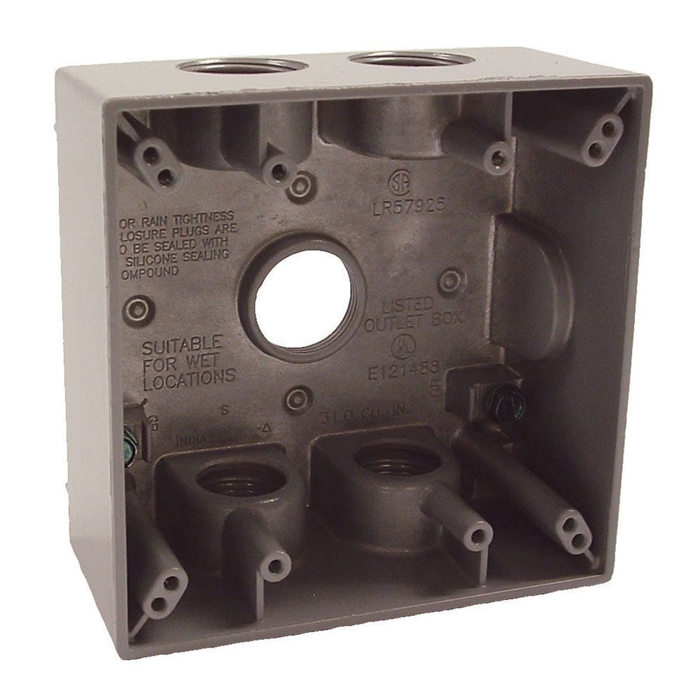 Hubbell-Bell 5345-0 Two Gang 5-3/4-Inch Outlets Weatherproof Box