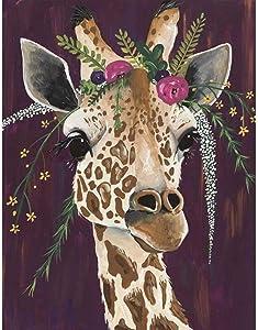 5D Diamond Painting Kits for Adults, Giraffe Full Drill Diamond Art Painting, Cross Stitch Crystal Rhinestone Embroidery Gem Art Craft for Home Wall Decor 12x16 Inch