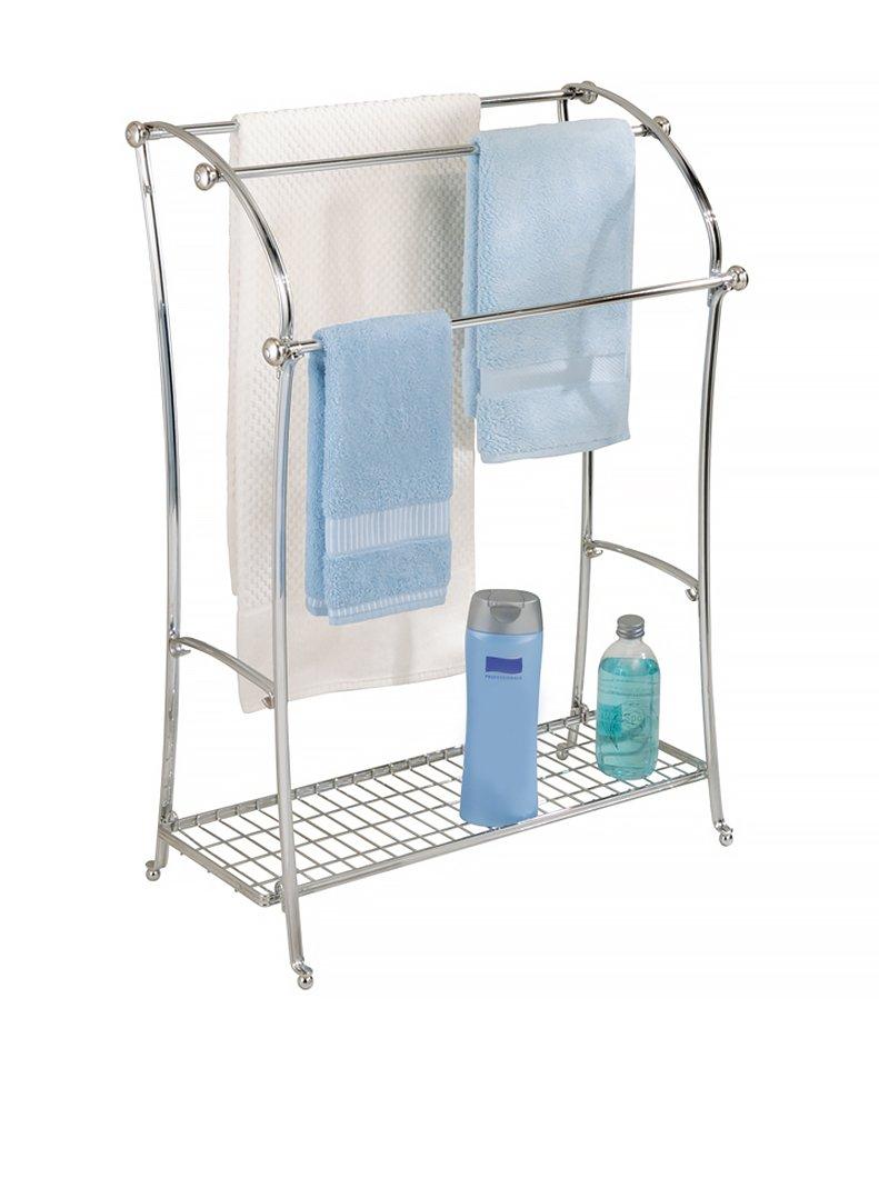 Amazon.com: InterDesign York Lyra Free Standing Floor Towel Holder U2013 Bathroom  Towel Drying Stand   Split Finish: Home U0026 Kitchen