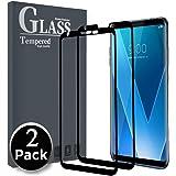 [2 Pack] Protector de Pantalla LG V30 , [Cubierta completa] Ferlinso Vidrio templado Screen Protector con garantía de reemplazo de por vida para LG V30 (Negro)
