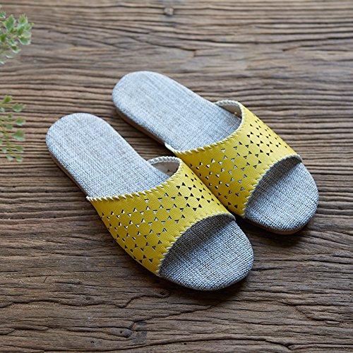 la interior amarillo 41 ropa 40 de de 41 Zapatillas casa Piso zapatillas y los y amarillo 40 amantes OI0R1