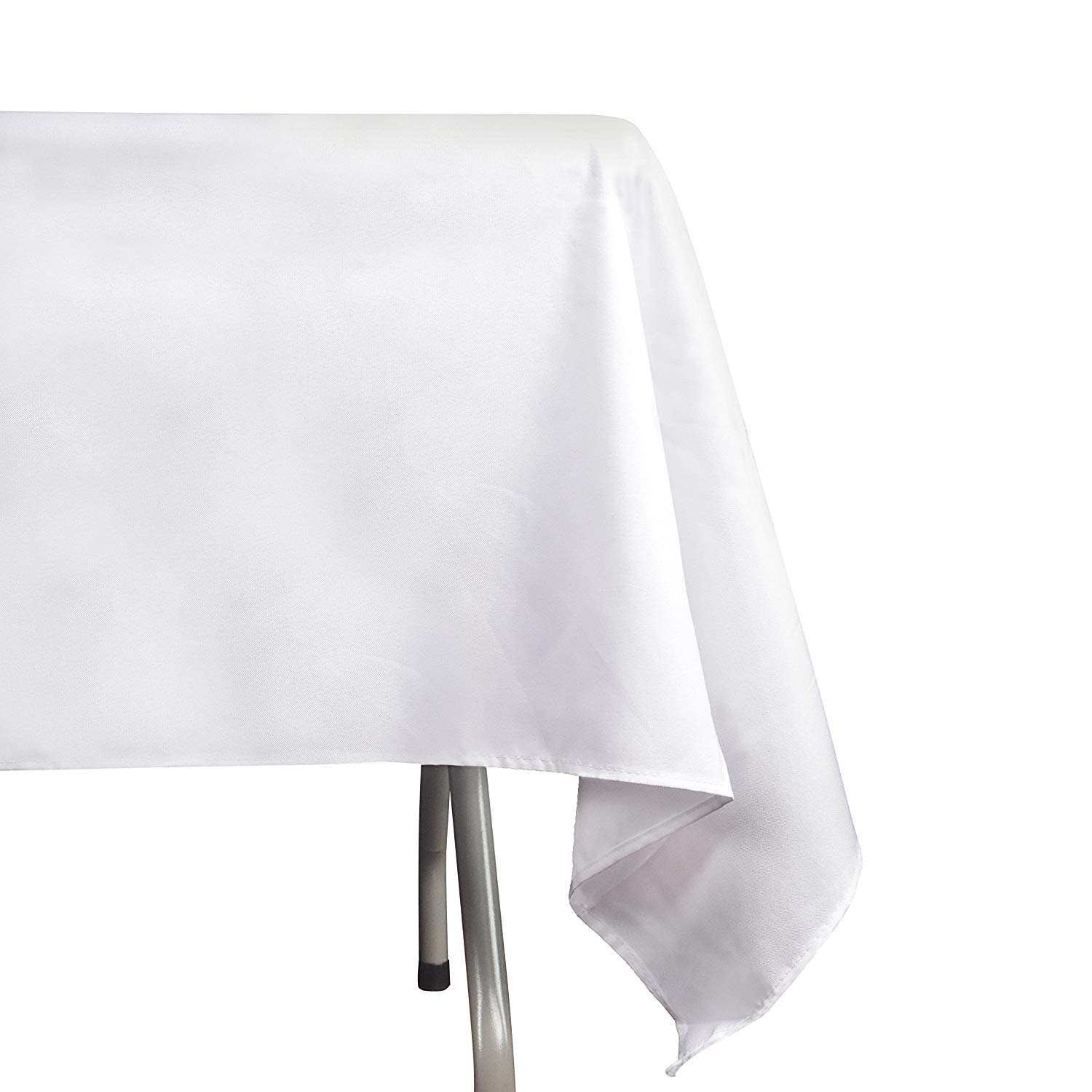 EMART Rectangle Tablecloth, 60 x 102 inch White 100% Polyester Banquet Wedding Party Picnic Rectangular Table Cloths (6 Pack) by EMART