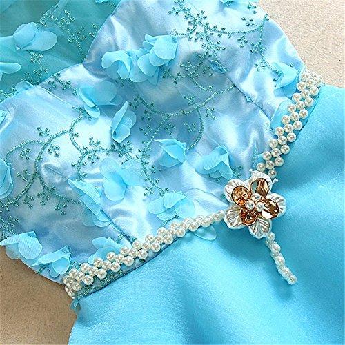 Adolescenti Drasawee Cerimonia Casa Ritorno Nuziale Le Vestito Blu Del Partito Da Dolce A Del Promenade Organza Ragazze Per Breve vr7rIqT