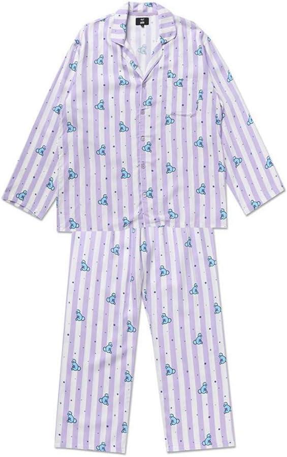 GFEIW Pigiami per Le Donne BTS Bangtan Ragazzi Sleepwear CHIMMY Cooky KOYA MANG RJ SHOOKY Tata Stesso Harajuku Manica Lunga Camicia Nighty Bedgown