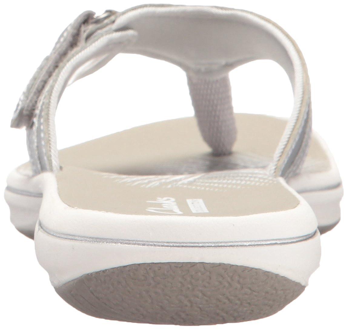 Clarks - - Silver Frauen Breeze Sea Flip FlopNew Silver - Synthetic 3c70e7