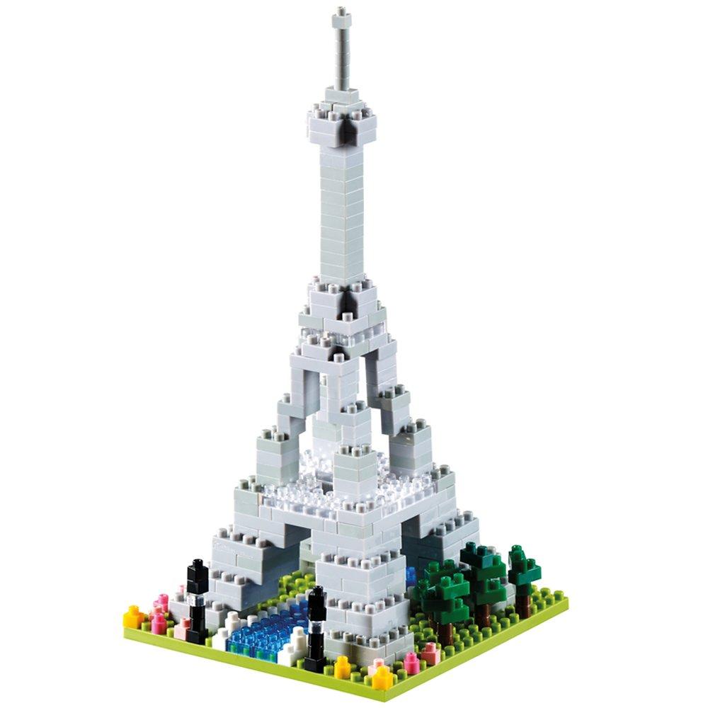 BRIXIES ''Big Eiffel Tower 3D-Motif Building Blocks (Multi-Colour)