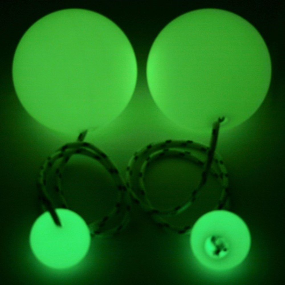 Play Pair of Contact Poi Pro with 90mm Stage Ball (Glow in The Dark) by Play (Image #2)