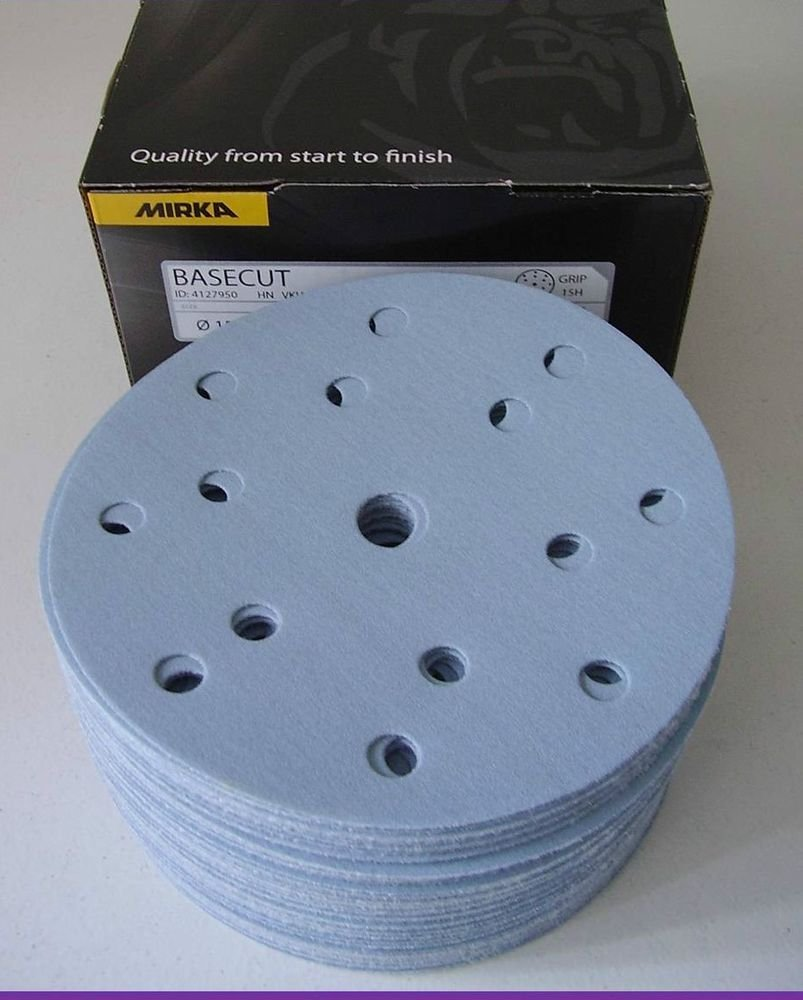 Mirka 2261109912 Base Cut Grip 15L P120, 150 mm, 100 Pro Pack 150mm 100Pro Pack