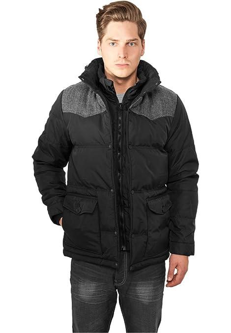 Entdecken attraktiver Stil außergewöhnliche Farbpalette Urban Classics Material Mixed Winter Jacket Streetwear Jacke ...