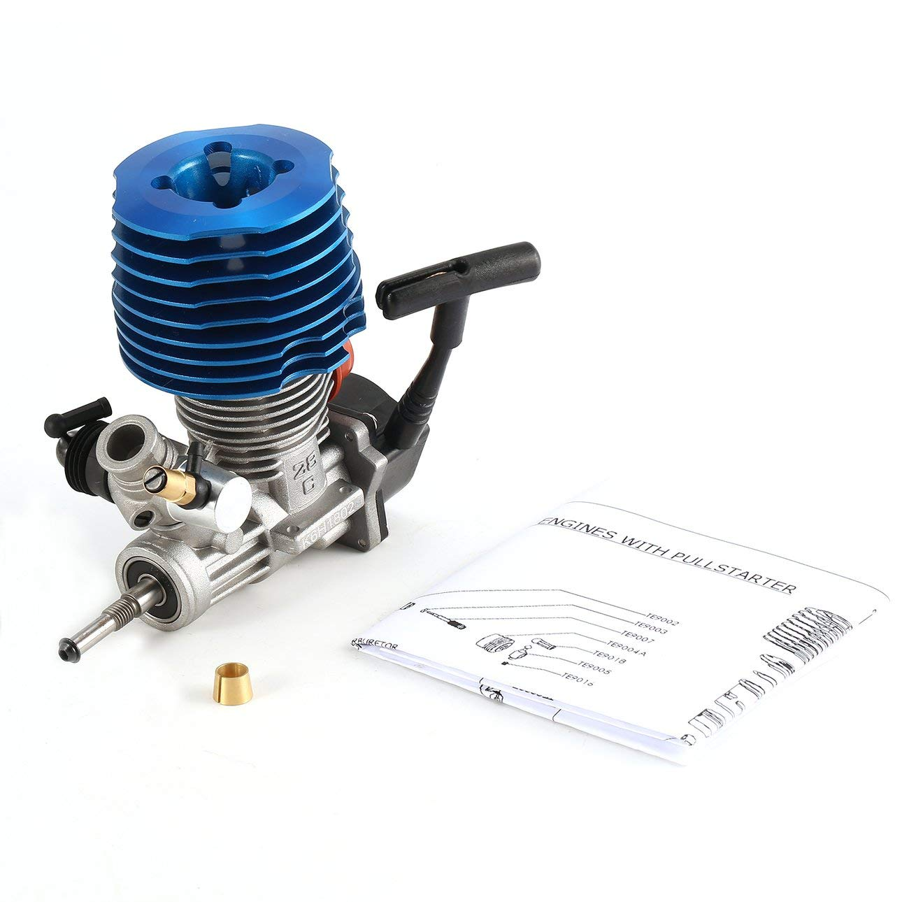 Liobaba RC Car 1: 8 Buggy Monster Truggy Nitro Engine SH 28 CXP Engine M28-P3 4.57CC 3.8hp 33000 RPM Side Exhaust Pull Starter