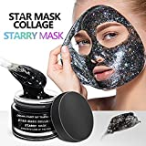 Facial Mask Games - Starry Mask, New Star Face Facial Mask, Peel Off Facial Mask, Glitter Star Facial Mask, Moisturizing Deeply Cleaning Peel Off Face Mask