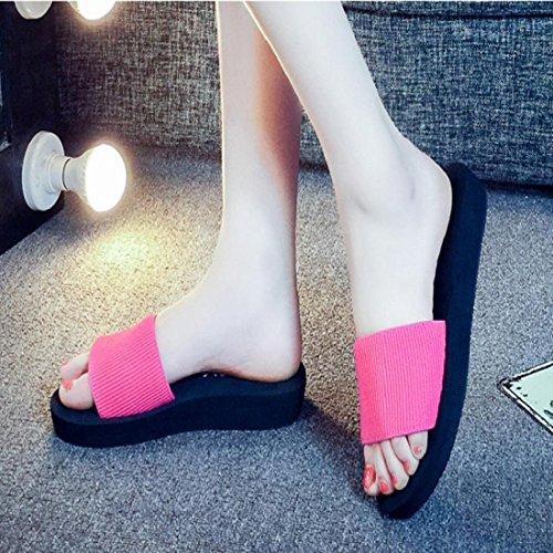 ... Tongshi Las mujeres forman las sandalias del verano del deslizador de  los zapatos de interior al ... 11830b8f6399