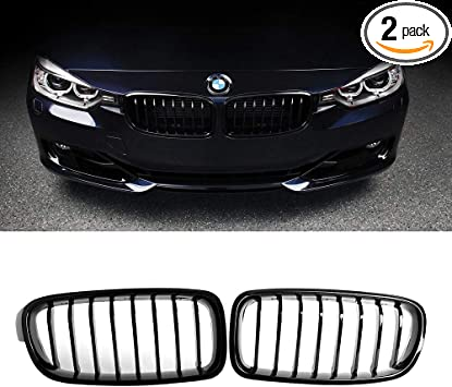 Black Double Spoke Performance Front Grill Set Fits F30 F31