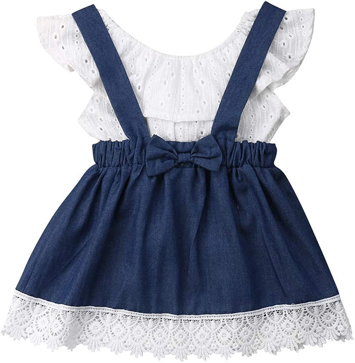 MIKI SHOP Spring Fashion Newborn Kids Baby Girls Off Shoulder Tops Skirt Outfits Clothes Summer