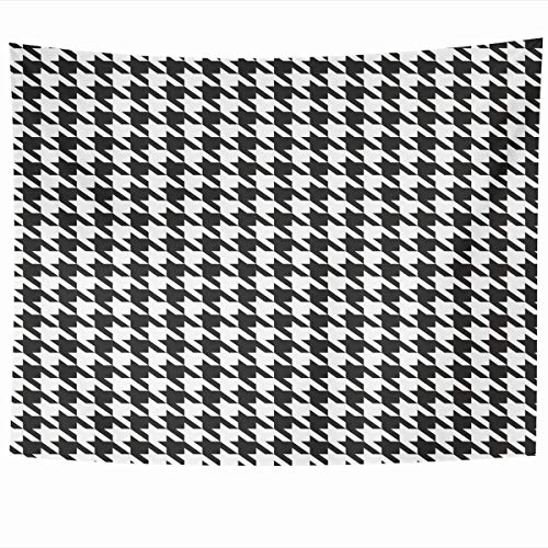 - Armko Tapestry Wall Hanging Art 80 x 60 Inches Suit Tooth Houndstooth Pattern Black Dog Woven Abstract Check Checkered Classic Design Home Tapestries Office Bedroom Living Room Dorm