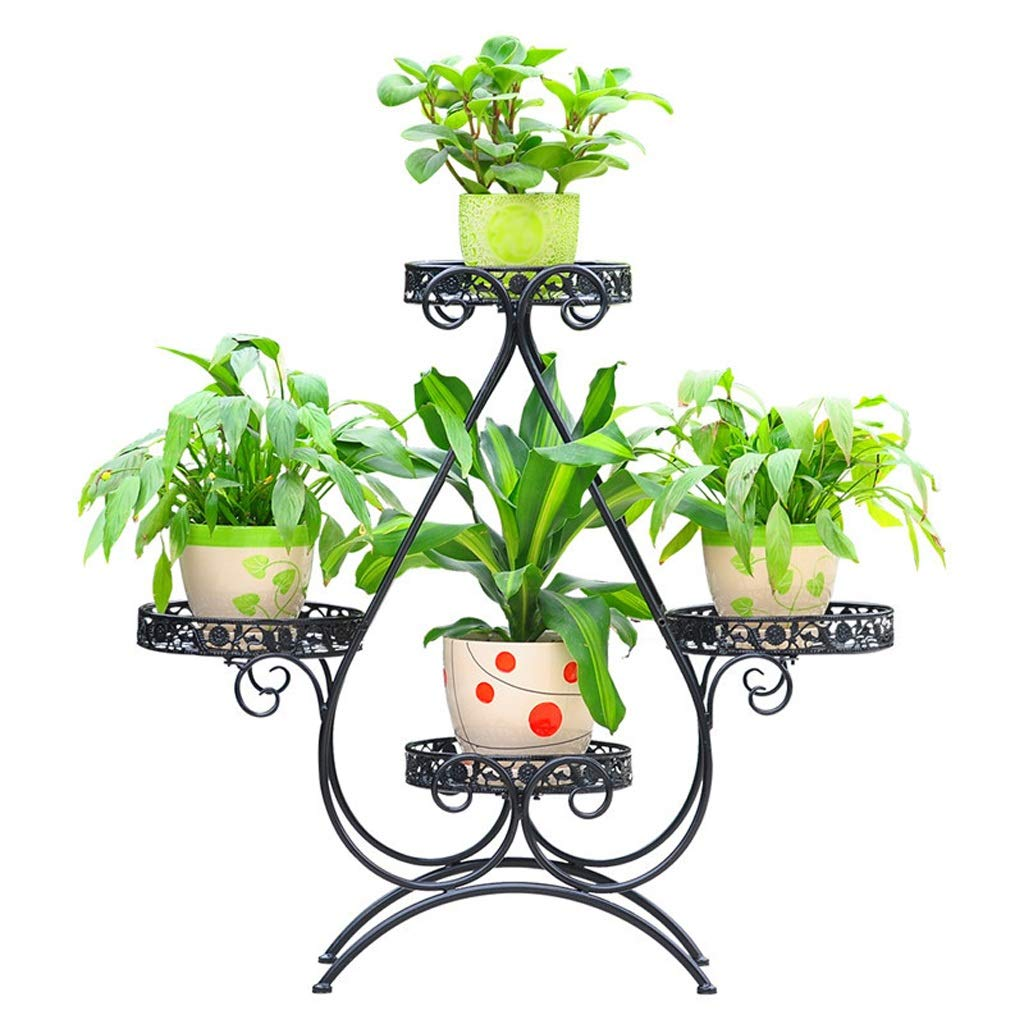 punto vendita Huajia Moda Moda Moda fiore in ferro battuto stand soggiorno balcone multi-funzione fiore stand multi-strato pavimento vaso di fiori cremagliera fiore scaffale cremagliera  risparmia fino al 70%