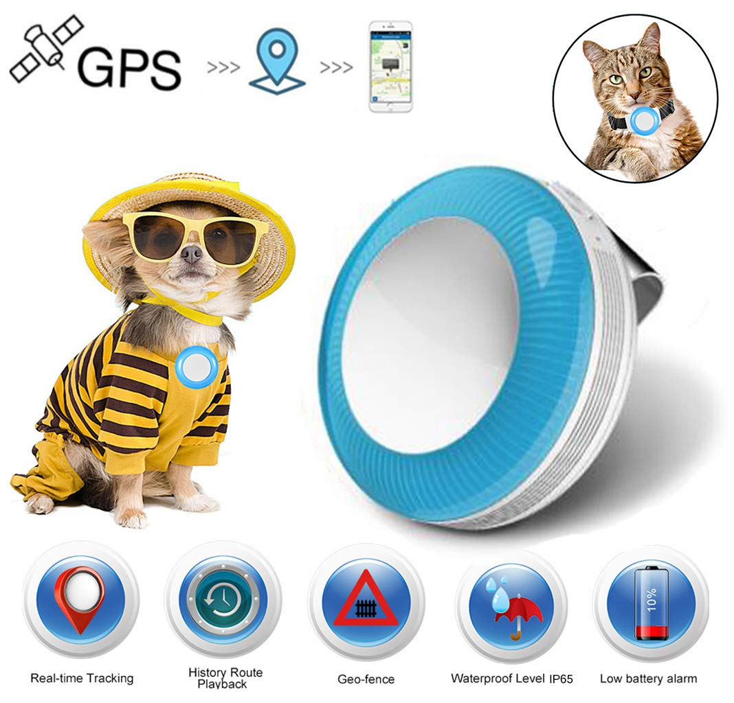 Pet Tracker for Dogs Cats GPS Tracker Real Time Pet Tracking Device for Dog Cat Pet Finder Locator Waterproof IP65 Lightweight with Free App Tracking - TK925