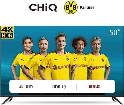 CHiQ Televisor Smart TV LED 50 Pulgadas 4K UHD, HDR 10/HLG, WiFi ...