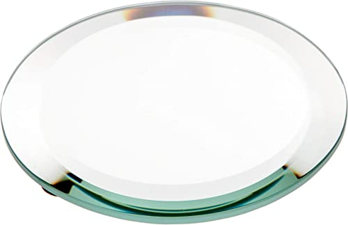 Plymor Round 5mm Beveled Glass Mirror, 4 inch x 4 inch Pack of 24