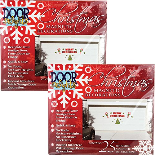 (Set/2) Festive Merry Christmas Garage Door Decoration Magnets - 50 Pieces ()