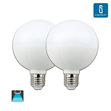 Aigostar -Pack de 2 Bombilla LED G95 tipo globo de 18 watios ...