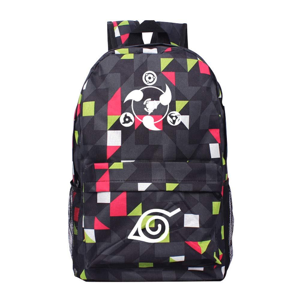 Amazon.com | Naruto Write Round Eyes Anime Cosplay Bag Backpack School Bag (color-1) | Kids Backpacks