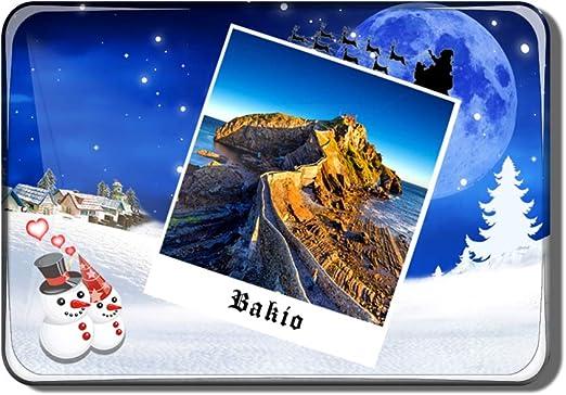 Hqiyaols Souvenir España Gaztelugatxe País Vasco Bakio Imán de Nevera Recuerdo Navidad San Valentin Regalo Cristal Refrigerador Imán Viajes Coleccionables: Amazon.es: Hogar