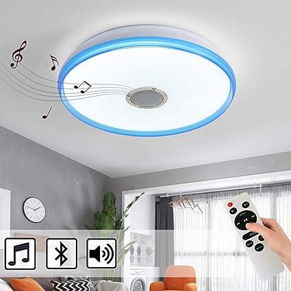 24W Blau Wei/ß +Fernbedienung ohne RGB Natsen Bluetooth Deckenleuchte Lautsprecher Lampe dimmbar mit Fernbedienung//Ohne Fernbedienung mit//ohne RGB