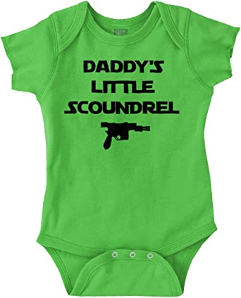 Father And Son Rule The Galaxy Nerdy Shower Newborn Romper Bodysuit For Babies