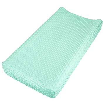 Custom Made Standard Changing Pad Cover SpearMintWhite Confetti Triangles