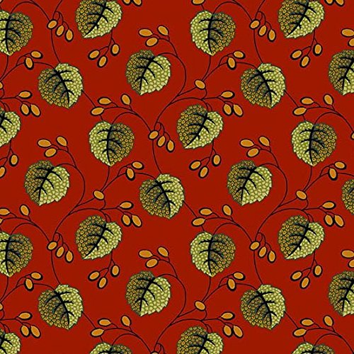 Holly Berry Cotton Fabric Andover Festive Merlot By the Yard ()