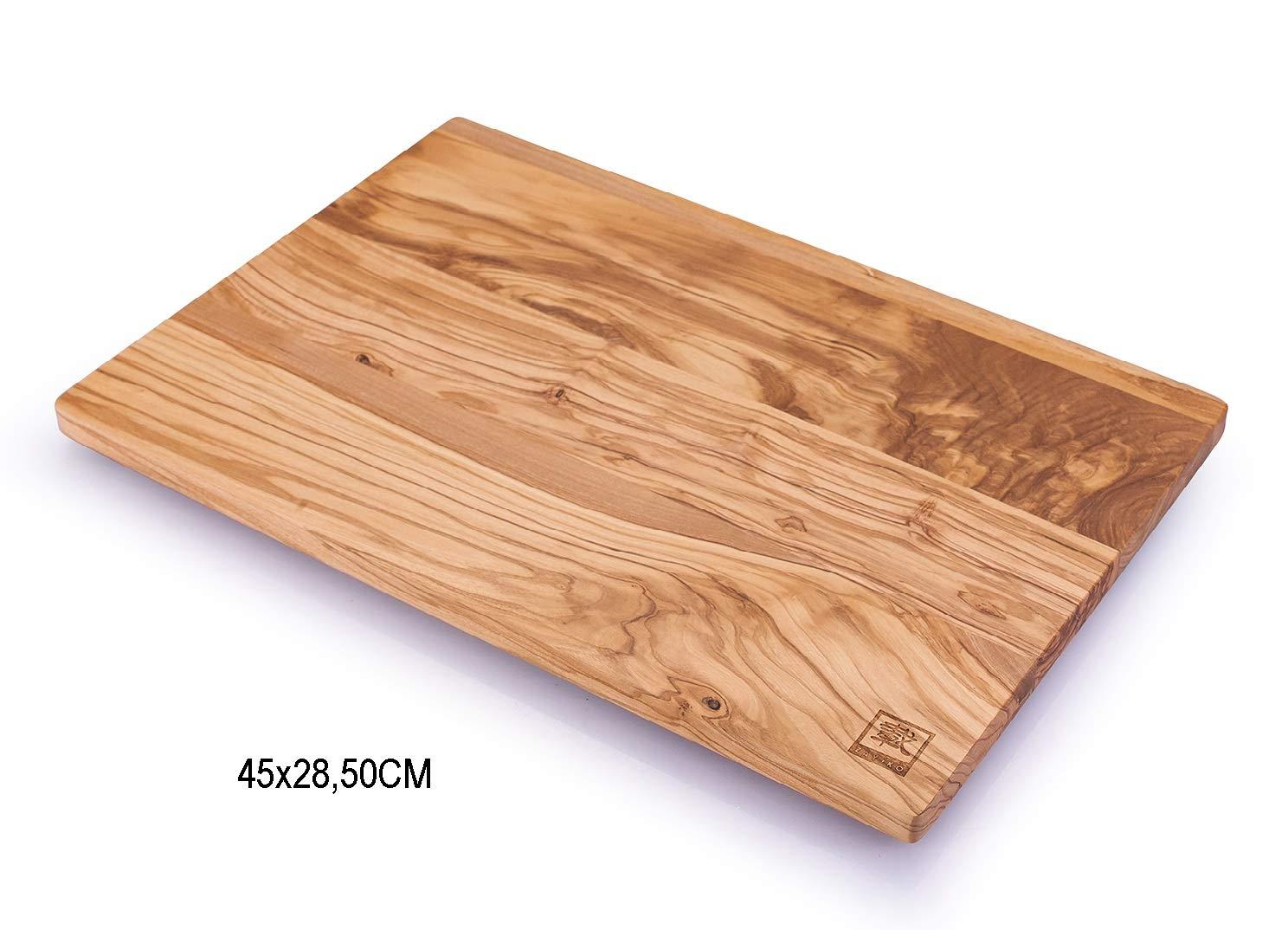 zayiko Planche /à d/écouper en Bois dolivier huil/é avec Pieds 45 x 28 cm