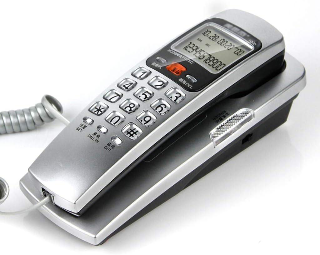 ZhuFengshop Teléfono con Cable Teléfono Fijo Teléfono de Pared Teléfono Fijo Teléfono de Hotel Familiar Teléfono Indicador de Llamada - Plateado Escuela, Hogar, Oficina: Amazon.es: Hogar