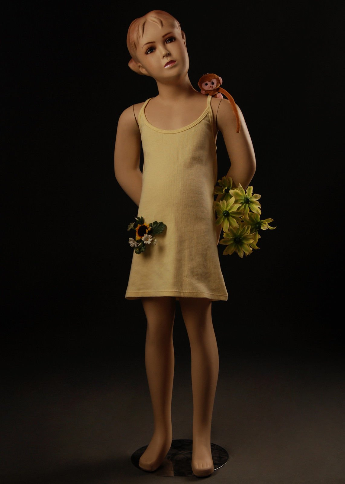 Beautiful Cute Child Girl Female Full Body Fiberglass Realistic Mannequin Flesh Tone 46'' Tall 23'' 22'' 24'' (KW1)