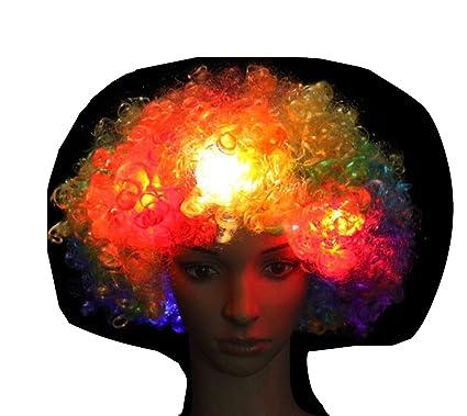 Nikgic 1pc LED resplandor pelucas creativo headshot pelucas personalidad San Fermin Carnaval pelucas pelucas de adultos