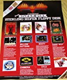 1980s Firebird Super Silver Disk Poster -C64 (Commodore 64)