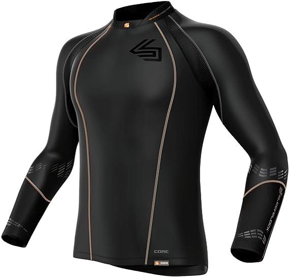 Black//Black bargain 2XU Compression Mens Long Sleeve Top NEW!
