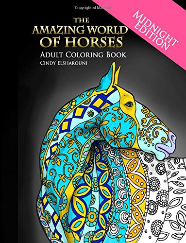 Amazing World Horses Midnight Coloring product image